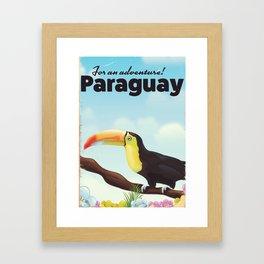 Paraguay Toucan travel poster Framed Art Print
