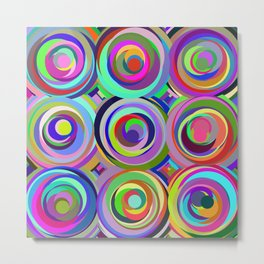 3x3 009 - abstract bouquet Metal Print