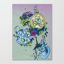 Alice in Wonderland - I'm entirely bonkers  Canvas Print