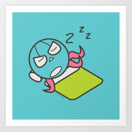 Sleeping Octopus Art Print