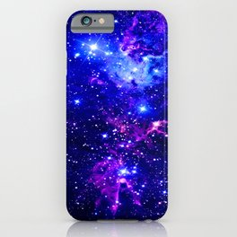 Fox Fur Nebula Galaxy blue purple iPhone Case