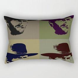 Clint Eastwood Pop Art Rectangular Pillow