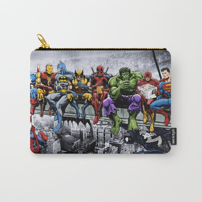 Superhero Lunch Atop A Skyscraper Carry-All Pouch