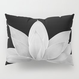 Gray Agave on Black #2 #tropical #decor #art #society6 Pillow Sham