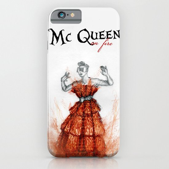 Mc Queen on fire iPhone & iPod Case