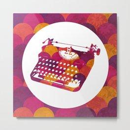 Typwriter Tiles Metal Print