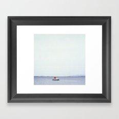 Lone peddlo in Sicily Framed Art Print