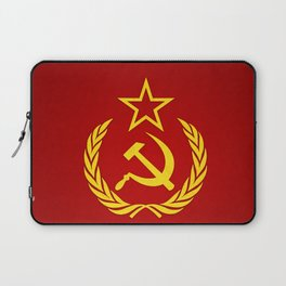 Hammer and Sickle Textured Flag Laptop Sleeve
