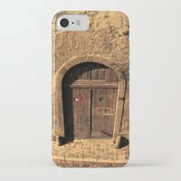 door iPhone & iPod Cases featuring door by Crazy Thoom