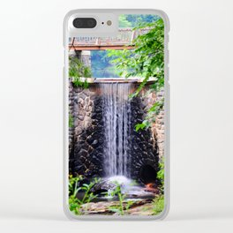 Bass Pond Waterfall Clear iPhone Case