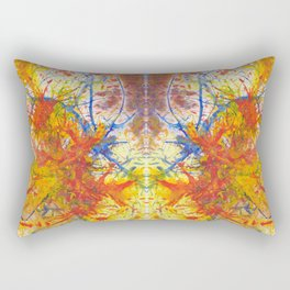Branches Aflame with Flower Rectangular Pillow