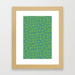 St. Patrick's Day shamrock pattern Framed Art Print