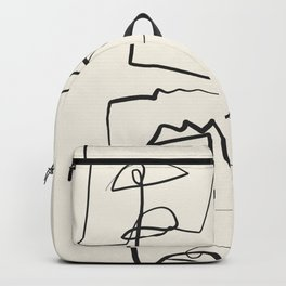 Abstract line art 12 Backpack