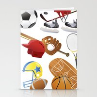 sports Stationery Cards featuring sports! by Dues Creatius
