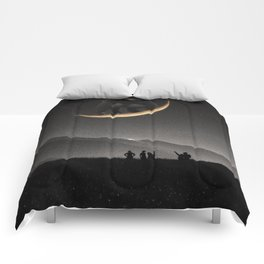 Ride on the moon Comforters