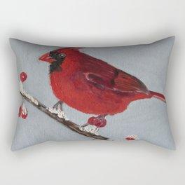 Christmas Cardinal Rectangular Pillow