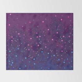 Bi Pride Flag Galaxy Throw Blanket
