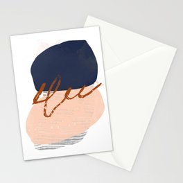 Abstract Desert Shapes Mid Century Modern Stationery Cards