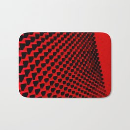Eye Play in Black and Red Bath Mat