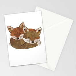 Shelter (Stacked Foxes) Stationery Cards