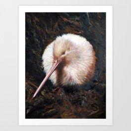 """""""White Kiwi"""" Art Print"""