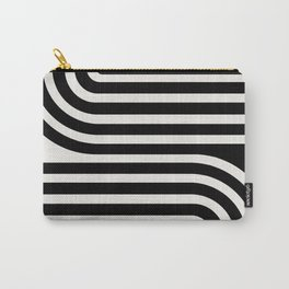 Minimal Line Curvature - Black and White III Carry-All Pouch