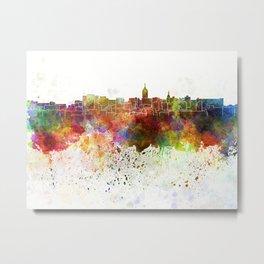 Lansing skyline in watercolor background Metal Print
