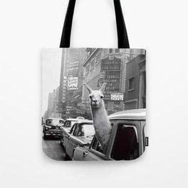 New York Llama Tote Bag