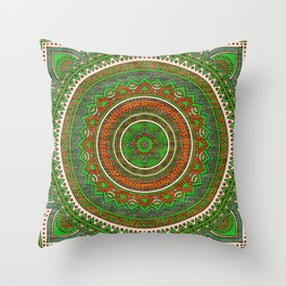 Hippie mandala 80 Throw Pillow