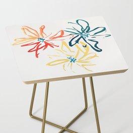 Gestural Blooms Side Table