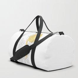 Monstera line Art Duffle Bag
