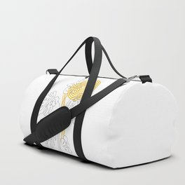 Monstera line Art Duffle Bag