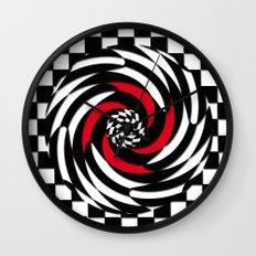 Checkered Meditation Wall Clock
