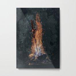 Dark Souls *The Primal Bonfire* Metal Print