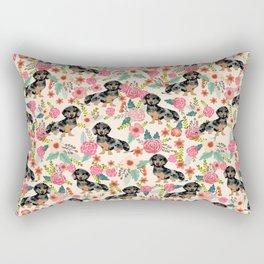 Dachshund dapple coat dog breed floral pattern must have doxie gifts dachsies Rectangular Pillow