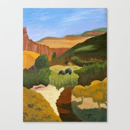 Fresh Trail, painting Canvas Print