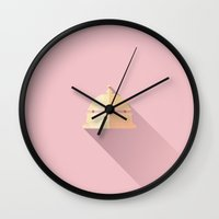budapest hotel Wall Clocks featuring The Grand Budapest Hotel · Ring the bell by Lorena G