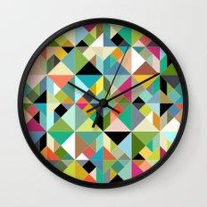 tangram geo multi Wall Clock