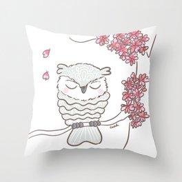 Lacy Owl Throw Pillow