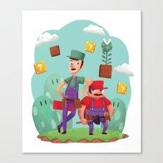 Mario and Luigi! Canvas Print