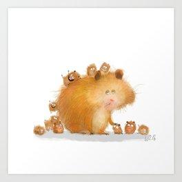 hamster family Art Print