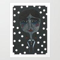 A Little Blue Art Print