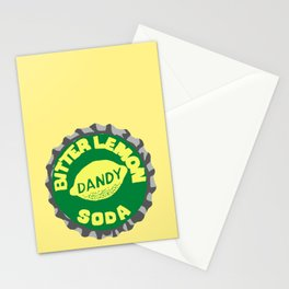 Dandy bitter lemon soda bottle cap lefty Stationery Cards