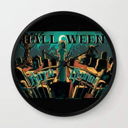 KOTA MUNDI Halloween Poster Wall Clock