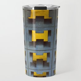 Cement Block Light & Texture Travel Mug
