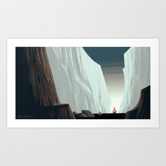 Ice Field & Ship Art Print