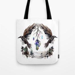 Black Ravens In The Crystal Woods Tote Bag