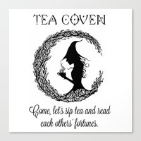 coven Canvas Prints featuring TEA COVEN by Tea Coven