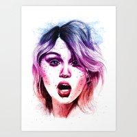 Surprise - Purple version Art Print