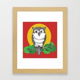 Happy go lucky owl Framed Art Print